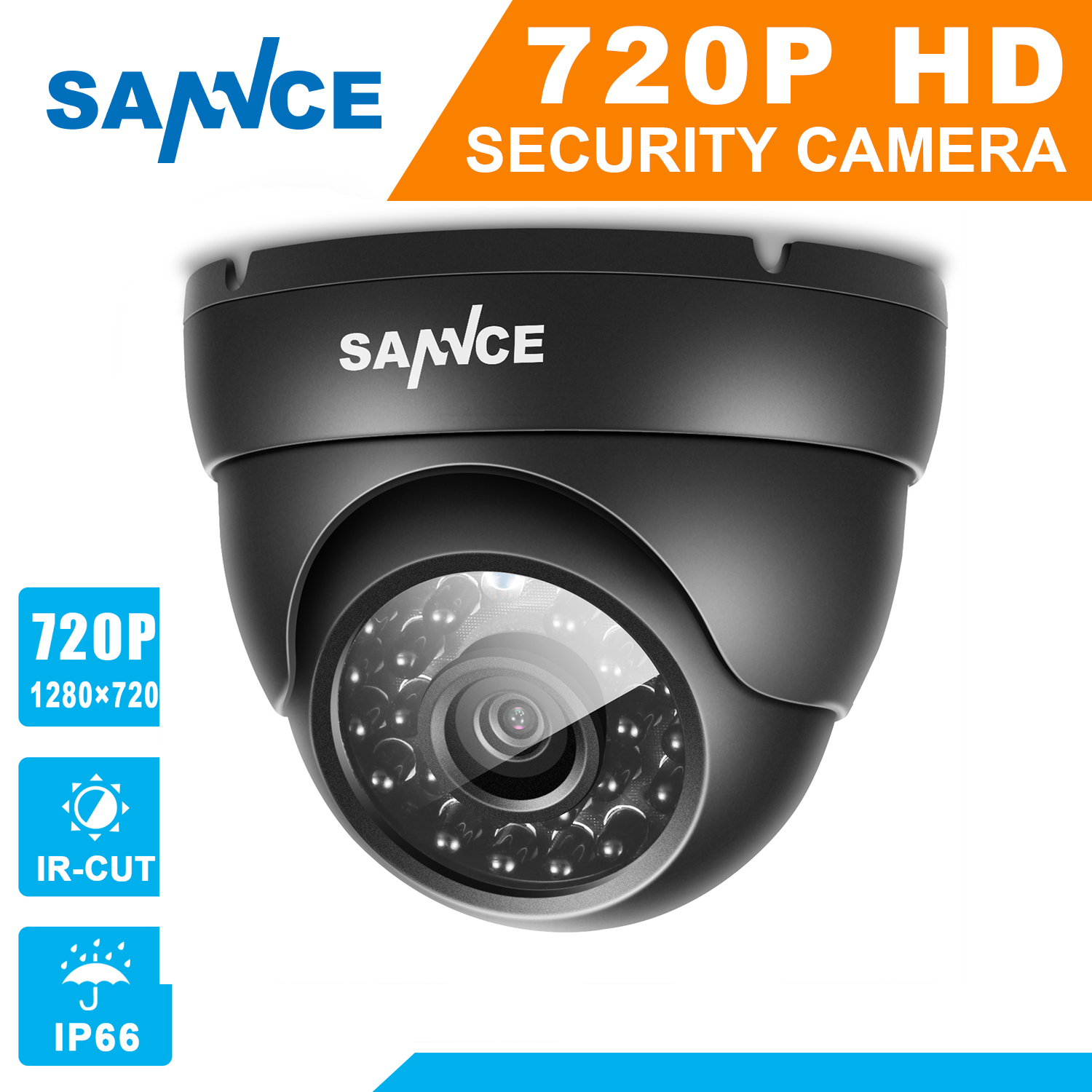 SANNCE AHD 720P 1200TVL Dome CCTV Camera 1280*720 1.0MP Waterproof IR-Cut Night Vision Camera For Surveillance System Kit BC lifan 720 720