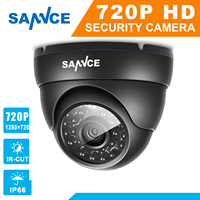 SANNCE AHD 720P 1200TVL Dome CCTV Camera 1280*720 1.0MP Waterproof IR-Cut Night Vision Camera For Surveillance System Kit BC