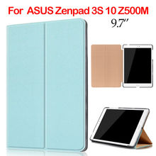 ZenPad 3S 10 Z500M PU Leather Case 9.7 inch Tablet Cover Slim Smart Case Funda For ASUS Zenpad 3S 10 Z500M Protective Stand Skin
