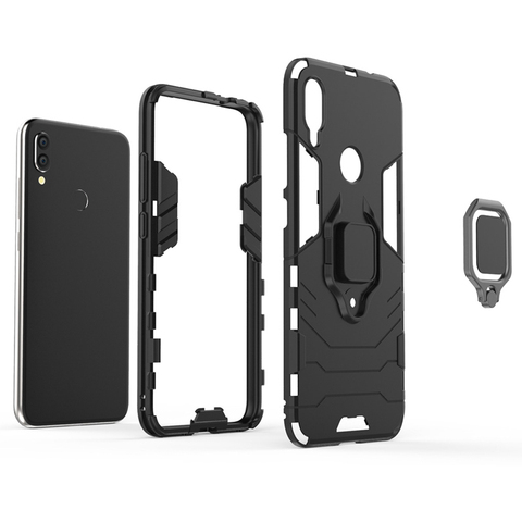 Silicone Cases For Xiaomi redmi note 7 Covers For Xiaomi Mi Play Case FingerRing Hard Bags Iron Man Housings Multan