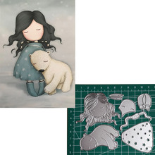 Bear Girl Metal Cutting Dies 2019 Scrapbooking Craft Cut Stamps Embossing Stencils Invitation Card Making