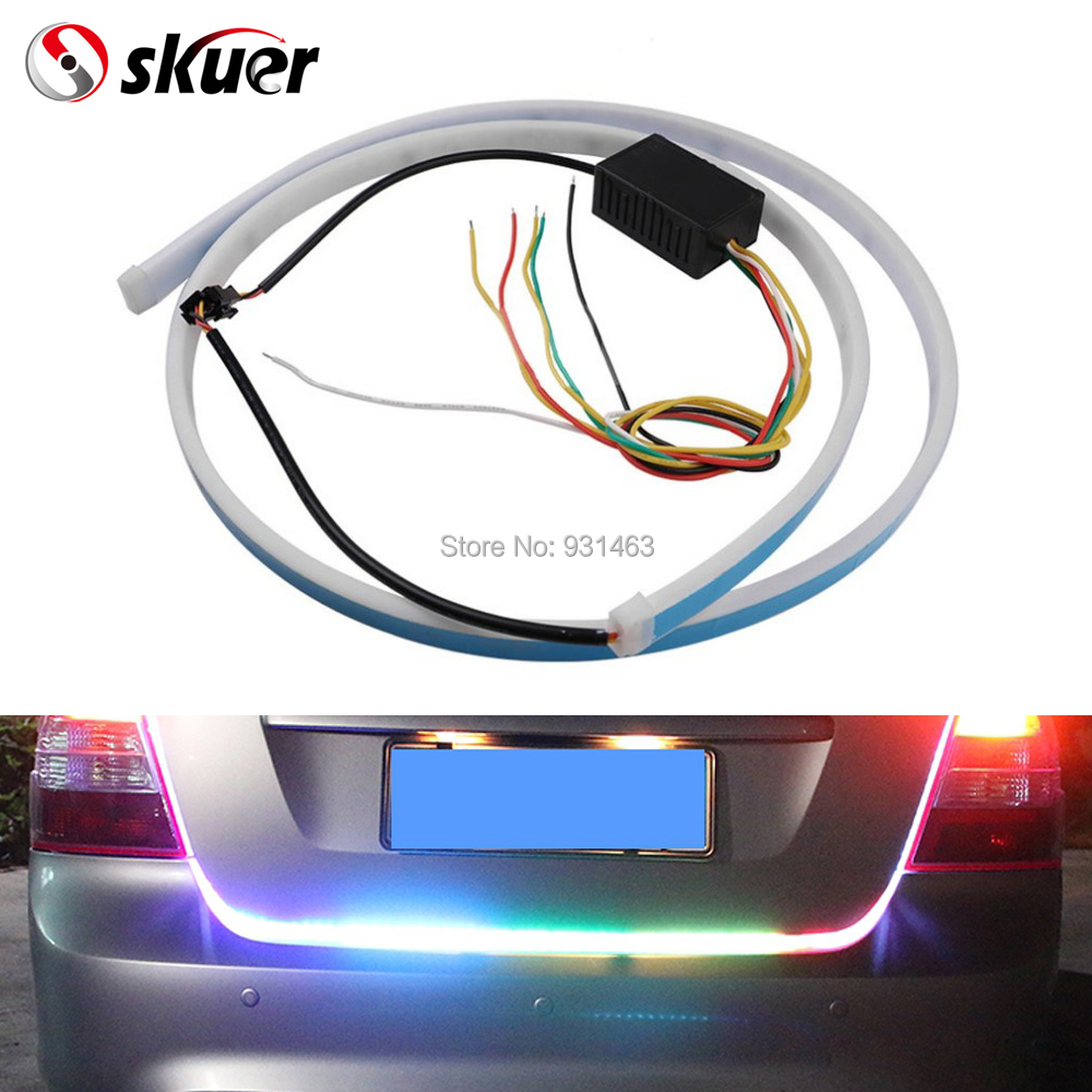 Skuer 1.2M Car Tail Lamp Strip Decorative Lamp Horse Race Lamp Rear Box Flow Light 335 LED Lamp Strip Car styling
