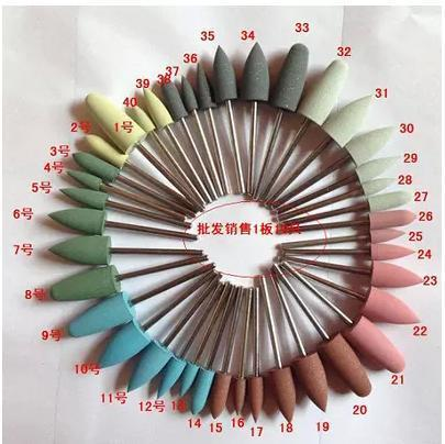40 pcs Polishing Material Rubber Silicone Polishing Abrasive Tips 2.35mm Dental Lab Products