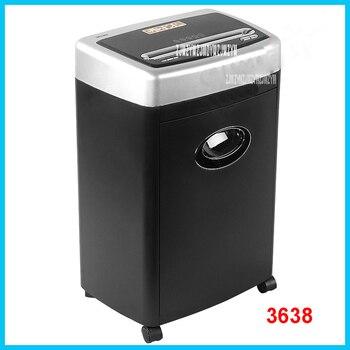 3638 Mini trituradora de archivos eléctrica trituradora de Casa de oficina 17L trituradora eléctrica de alta potencia 220 V/250 W de papel trituradora 3 m/min.
