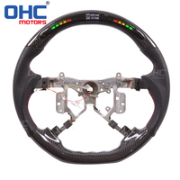 Real Carbon Fiber LED Steering Wheel compatible for Toyota Hilux Camry Previa