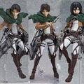 Anime ataque em titan scouting legião shingeki não kyojin levi Figma 213 Mikasa PVC action Figure Gift Collection Modelo Toy Eren