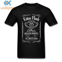Tshirt Dark Souls Estus Flask Game 3 Black Knight Weapons Ps Drink Camiseta Masculina Camisa Casuals