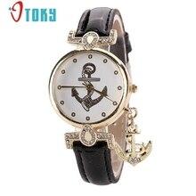 OTOKY Cristal Relojes Reloj de pulsera para Las Señoras de La Vendimia Ancla de Cuero Reloj de Cuarzo Vestido de Mujer Casual Relojes #30 Regalo 1 unid