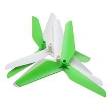 4pcs/set Main Blade Propeller for syma X5C X5SW X5 The wing rc Helicopter Quadrocopter parts Enhanced  White and green