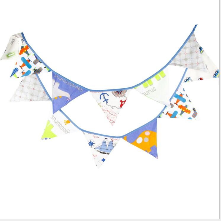 2018 Happy Birthday Party Decoration Kids  3.2m 12 Flags Banner Baby Shower Party Supplies