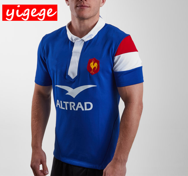 eb7368d06e76b 2019 France home and away Rugby Jerseys Best Quality France Rugby shirt  national team League jersey S-3XL ~ Best Seller June 2019
