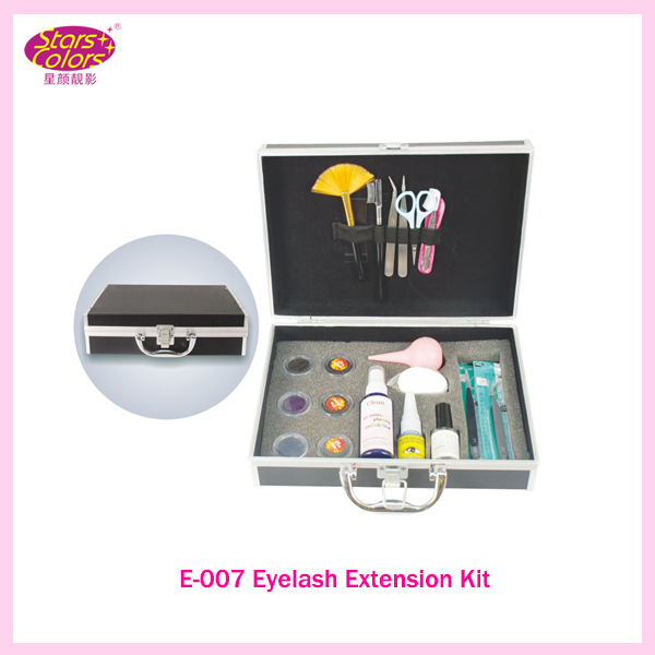 ФОТО 2017 Hot ProBlack Leather Grafting Eyelash Extension Glue Brush Kit Set Salon Fake Eye Lashes Makeup Beauty Tools Free shiping