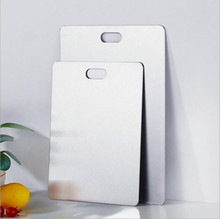 Household Cutting Board Stainless Steel Chopping Blocks Children's Food Cutting Board Suitable for Fruit Vegetable цена и фото