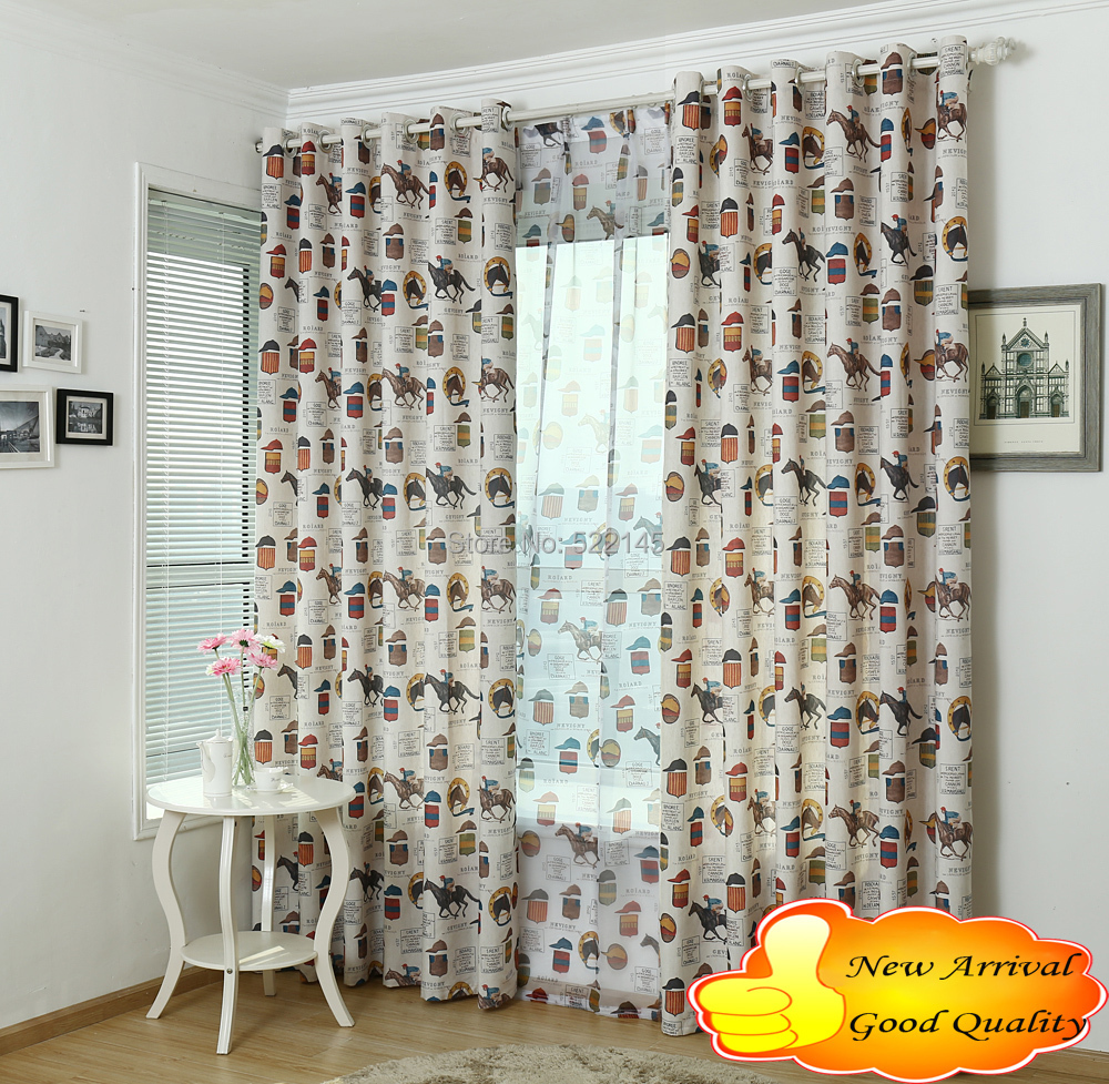 Free Shipping 140cm 260cm Good Quality Fashion Luxury Printed Linen Voile Ready Made Curtain In Curtains From Home Garden On Aliexpress Alibaba
