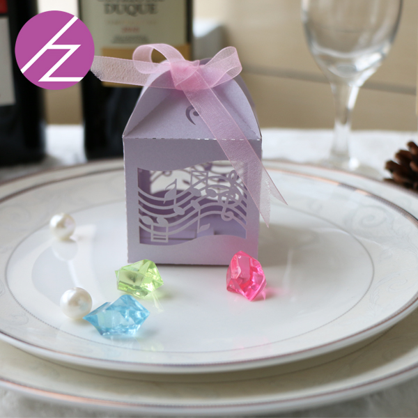 Romantic Wedding Favors Music Notation Diy Candy Cookie Gift Boxes
