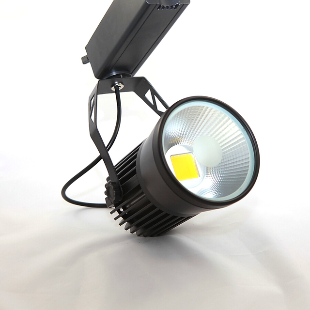 Modern Indoor Track Lighting 30W COB LED Track Spotlight Rail Lamps Dimmable 110V 220V 2 Wires For Home Cloth Shop Stores 6pcs