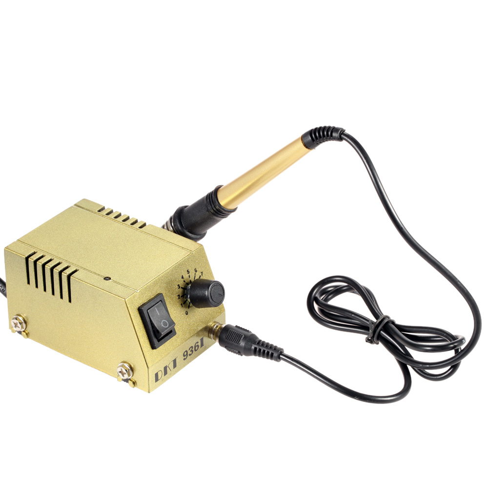 Mini Electric Soldering Station Power Adjustable Solder Station Solder Iron Welding Equipment for SMD SMT DIP esd safe 75w soldering handpiece t245a solder iron handle for di3000 intelligent soldering station