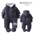 2015 Newborn Winter Baby Coat kids Romper Cotton Coat kids clip cotton coverall romper baby trench thickening clothingr