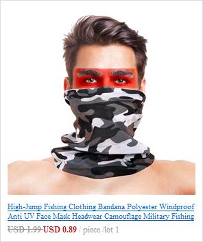 Камуфляжный шарф с высоким прыжком, бандана для мужчин и женщин, маска для лица, тактическая, для улицы, волшебный головной убор, для кемпинга, пешего туризма, шейный шарф