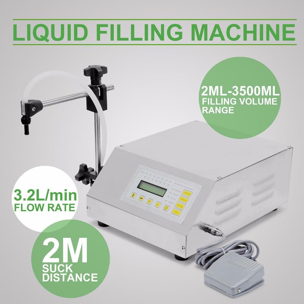 Updated Model GFK-160 2ML-3500ML Digital Control Pump Liquid Filling Machine   110/220V