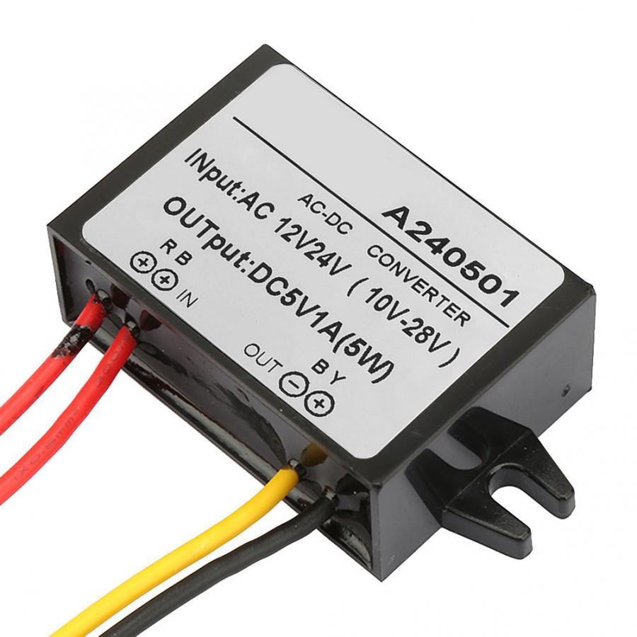 24V /à 5V R/égulateur abaisseur de tension /étanche Module abaisseur de puissance de sortie 5V 3A Convertisseur abaisseur de tension USB unique pour chargeur dalimentation Convertisseur DC DC 12V