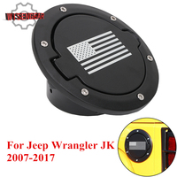 WISENGEAR Car Fuel Tank Filler Cap Gas Cap Cover Trim For Jeep Wrangler JK Sport X