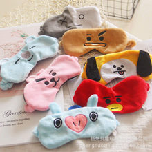 8pcs/lot Korea BTS BT21 Cute Fans Hair Band gym Wash Makeup Cleansing plush Headband Face Masks BTS Mask Plush accessories(China)