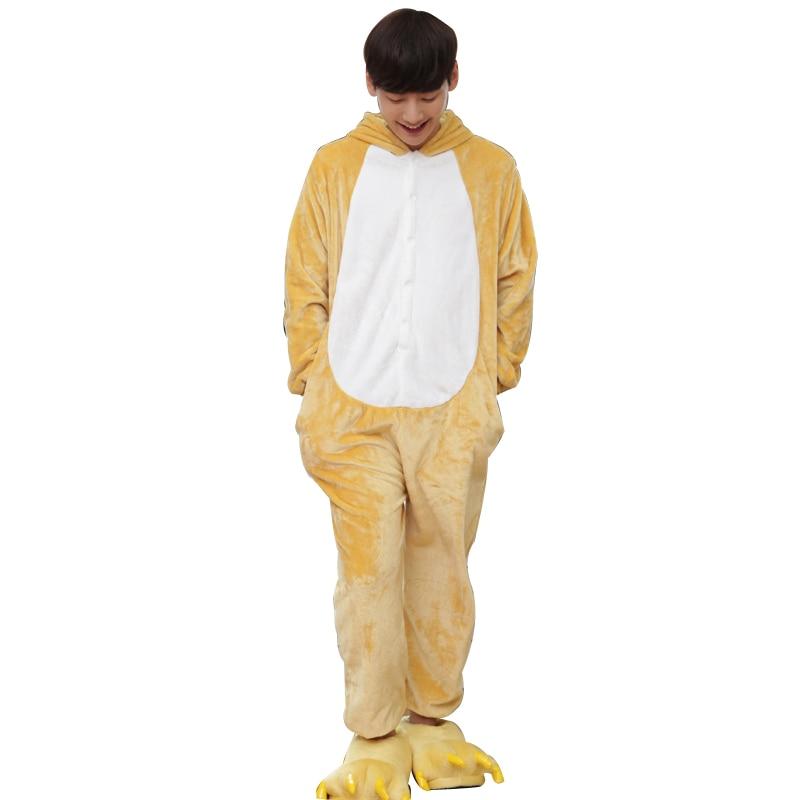 Kawaii Flannel Pijama kigurumi For men Minion Panda Tiger Giraffe Onesie Adult Sleepwear Couple Pyjamas Halloween Party Jumpsuit (9)