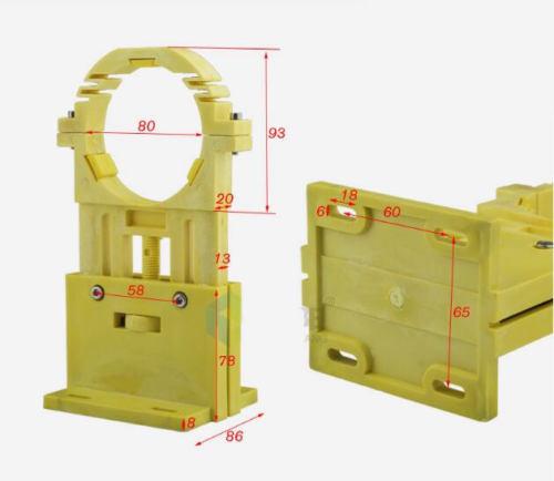 цена на 2pcs Plastic 80mm Diameter CO2 Laser Tube Holder Support Height Adjust