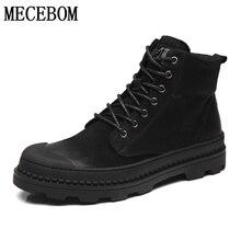 Hommes de désert bottes qualité tous les noir cheville bottes confortable dentelle-up en cuir chaussures automne footwears taille 38-44 1508 m