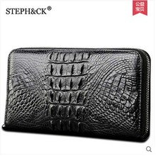 2019 shidifenni crocodile men clutch bag man  grab bag large volume real crocodile leather men bag push lock grab bag