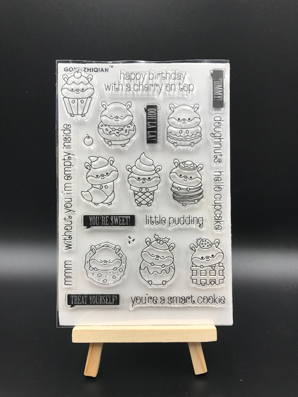 Cute Dessert Dood Transparent Clear Silicone Stamp/Seal for DIY scrapbooking/photo album Decorative clear stamp sheets A547 chicken animals transparent clear silicone stamp seal for diy scrapbooking photo album decorative clear stamp sheets a547