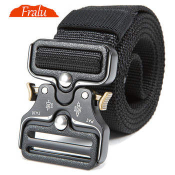 NewTactical Belts Nylon Military Waist Belt with Metal Buckle Adjustable Heavy Duty Training Waist Belt Hunting Accessories heavy duty safty bungee seat belt adjustable nylon rope car adult seatbelt leash padded belts jumping protection outdoor tool page 9