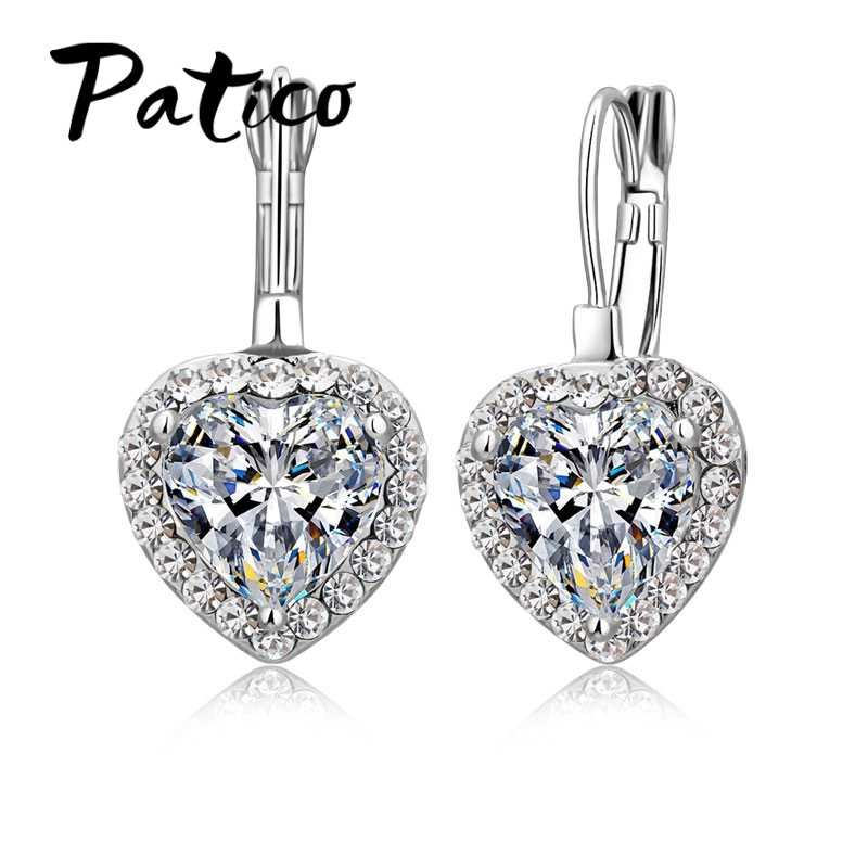 Romantic Gift for Grace Ladies AAA Cubic Zirconia Brincos Dangle Earrings with 925 Sterling Silver High Standard Crafts
