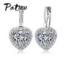 Romantic Gift for Grace Ladies AAA Cubic Zirconia Brincos Dangle Earrings with 925 Sterling Silver High Standard Crafts(China)