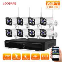 Floosafe HD 960 P sistema de cámara de vigilancia al aire libre 8CH NVR Kit CCTV sistema de cámara de seguridad para el hogar inalámbrico WIFI cámara IP sistema de