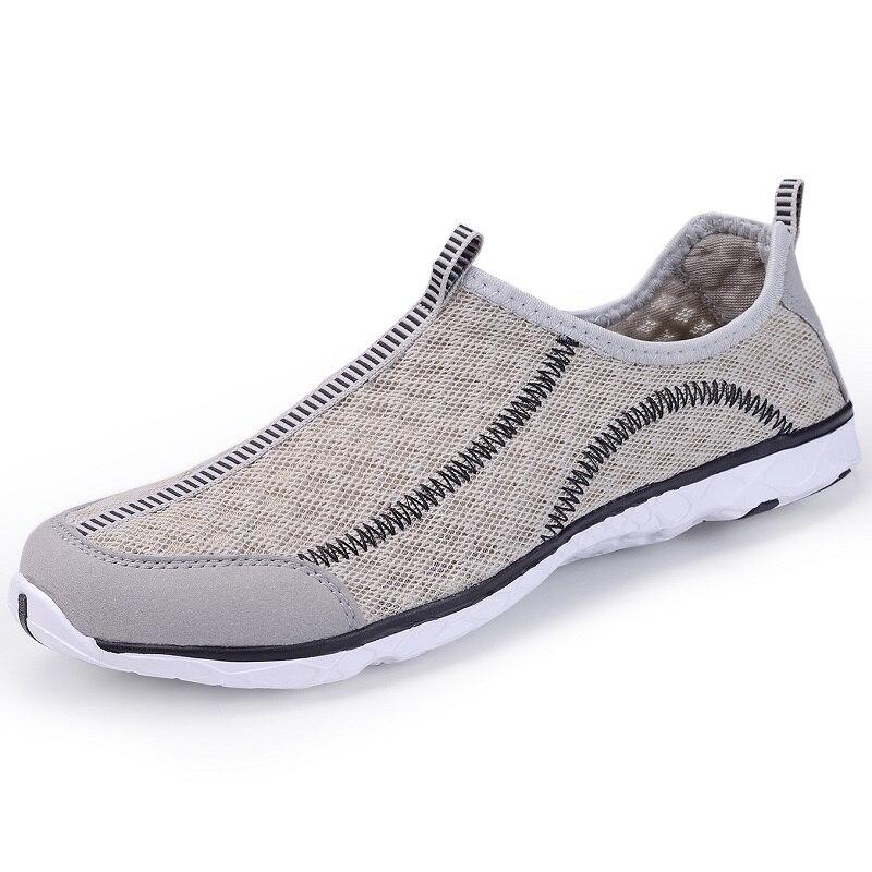 5e95292db81d2 Aliexpress.com   Buy 2018 Mens Shoes Breathable Mesh Women Aqua Shoes  Walking Super Light Summer Women Slip On Shoes Men Water Beach Shoes from  Reliable ...