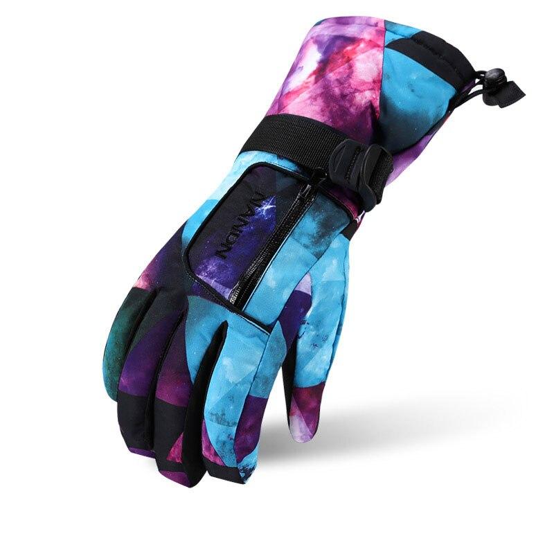 Ski Gloves  Women Men Unisex Snow Winter Waterproof Anti-Cold Warm Gloves Adult Skiing Snowboard Gloves Outdoor Sport