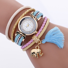 цена на Women Watches Luxury Clock Relogio Feminino Lady Delicate Elephants Quartz ladies Bracelet Watch  Elegant Dress Wristwatches