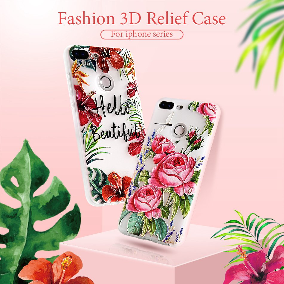 3D Relief Flower TPU Case For On Honor 9 9 lite Soft Silicone Case Back Cover Case for Huawei P20 P10 lite NOVA 2 Case           (1)