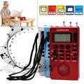 Портативный Цифровой ЖК-Приемник AM FM Радиодиапазоне Музыкальный Проигрыватель MP3 REC Рекордер