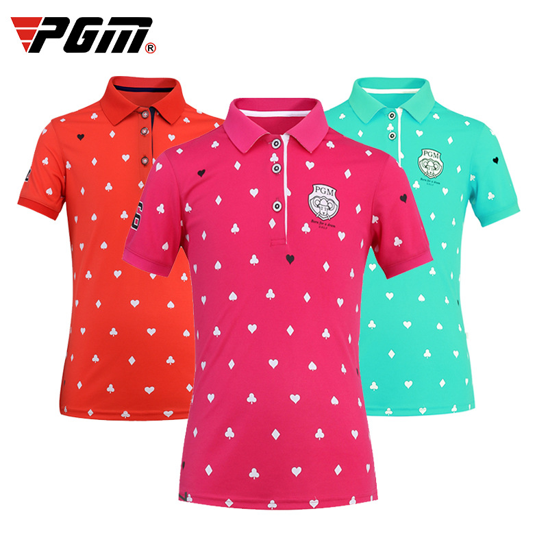 Kids Girl Shirt Tops Polo Short Sleeve Shirts Golf Run Tennis Leisure Clothes Breathable Young Girl Apparel Thin Shirt Dry Fit