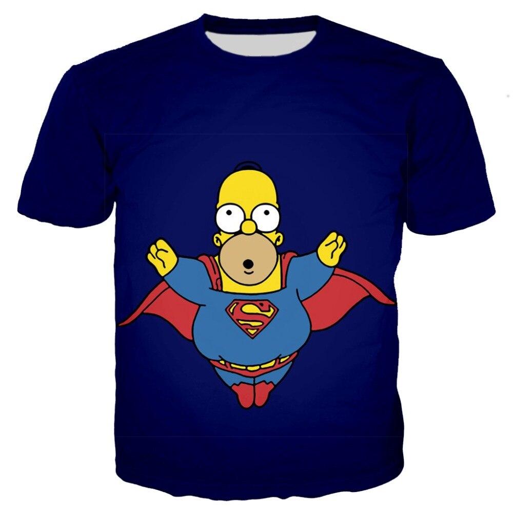 New kawaii printing Kids 3D tshirt superman hero cosplay tees children tees baby boy cartoon funny T shirt casual Harajuku top in T Shirts from Men 39 s Clothing