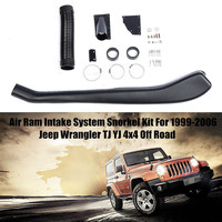 Car Snorkel Kit For Jeep For Wrangler TJ YJ 1999 2006 Wading Accessories Air Intakes Parts Set Air Ram Intake System Snorkel