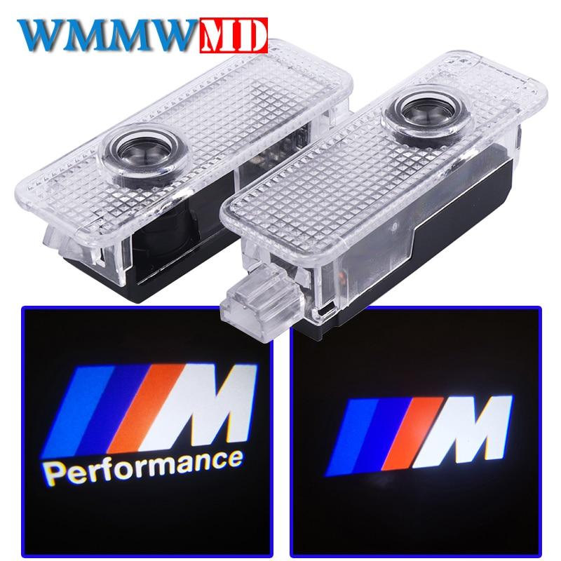 2x Car Door Lights M Performance Logo LED For BMW E90 E60 F30 F10 F15 E63 E64 E65 E86 E89 E85 E91 E92 E93 F02 M5 E61 F01 M3 M4 car led door logo projector ghost shadow light for bmw 3 5 6 7 m3 m5 e60 e90 f10 e63 f30 e64 e65 e86 e92 e85 e93 e61 f01 f02 gt