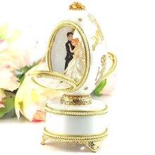 WR Роскошные кольцо Box Мини музыкальная шкатулка музыкальная Коробки Свадебная вечеринка принцессы Lover Девушки День святого Валентина подарки