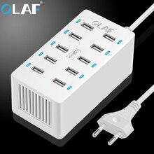 Oalf 10 Порты USB Зарядное устройство стены Зарядное устройство Desktop Зарядные устройства 10A Smart Адаптивная Desktop зарядная станция для смартфонов и Планшеты