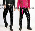 HOT 2016 new nightclub right Zhi-Long GD good boy stretch Motorcycle leather trousers singer DJ Stage costumes pants plus size