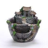 Creative Hanging Garden Resin Flower Pot Succulent Plants Decorative Flower Pot Pastoral Style Pot