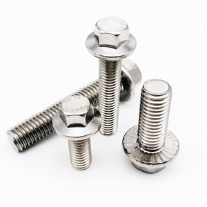 1/10pcs M5 M6 M8 M10 M12 A2-70 304 Stainless Steel GB5787 Hexagon Head with Serrated Flange Cap Screw Hex Washer Head Bolt